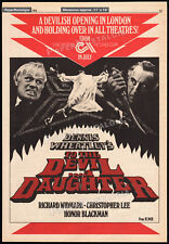 TO THE DEVIL A DAUGHTER__Original 1976 Trade AD promo / poster__HAMMER HORROR