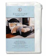 LuxGuard Pillow Protector Microfiber Zip Cover Allergen Barrier - King 2-Pack