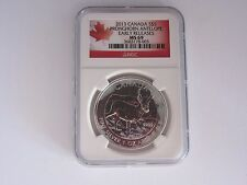2013 CANADA NGC MS 69 5 Dollar Pronghorn Antelope .999 Silver Coin