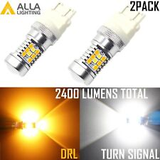 Alla Lighting LED 3157 Switchback Flashback Yellow Turn Signal White DRL Color