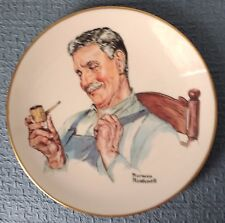 """""""Home from the Fields� ~ Norman Rockwell ~ 8½"""" Watercolor Collectors Plate"""