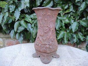 Vintage  Cast Metal Garden Urn  Floral Motif  Floristry  Vase 26 cm high (1207)