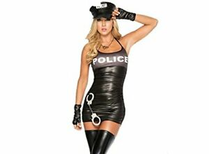 Sexy Women Ripped Back Police Cosplay Costume Lingerie uk 8 to 10