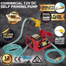 Diesel Fuel Transfer Pump 12V 40LPM - Portable | Automatic Nozzle DC Volt