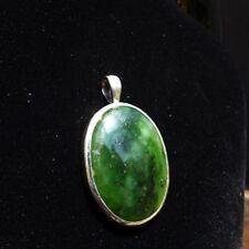 Anhänger, Silber 925 mit Jade / Nephrit