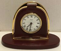 VINTAGE GUCCI EQUESTRIAN  BRASS STIRRUP DESK CLOCK - A Beauty!