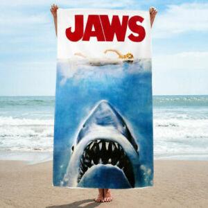 Classic Jaws Movie Bath Towel  Beach Towel, Retro Movie Towel Print, Many Sizes