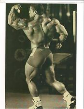 bodybuilder EDDIE ROBINSON Back/Bicep Pose Bodybuilding Muscle B+W Photo