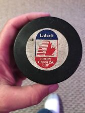 New ListingGame Used Nhl Hockey Puck Canada Cup 1991