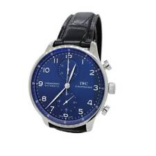 IWC Portuguese Chronograph Stainless IW3714-91 Blue Mens Watch