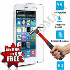 100% GENUINE Tempered Glass Film Screen Protector For I Phone 5/5s/5c/SE BUNDLED