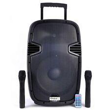 "Ibiza híbrido 15"" Batería portátil 700W PA Sistema Micrófono Inalámbrico Bluetooth"
