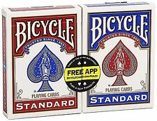 * 2 Packs Of Bicycle Standard Rider Back Playing Cards - 1 Red & 1 Blue Deck *