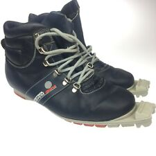 Vtg Alpina Control System Leather Cross Country Ski Boots Shoes Size EU 38