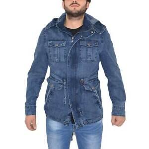 Giacca di jeans blu art.534 multi-tasche moda comfort