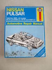 HAYNES 876 Automotive Repair Manual Book for 1983-1986 NISSAN PULSAR All Models