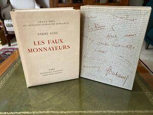Les faux monnayeurs - André Gide - André Sauret Éditeur 1951 numérotée