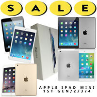 Apple iPad Mini 1/2/3/4 WiFi/AT&T/Verizon/T-Mobile/Unlocked 16/32/64/128GB