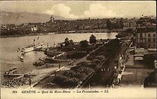 Schiffe 1929 Schweiz Genève Genf Schiffsanlegestelle Quai du Mont-Blanc Suisse