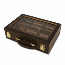 300 Ct Walnut Wooden Case w/ See Through Lid