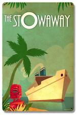 Vintage Styled Metal Sign Tiki Cruise Ship Travel Poster Art Tiki Bar Decor