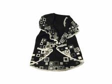 Poncho donna Mantella di lana cotta senza maniche nera bianca beige made italy