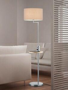 Trio Stehleuchte Stehlampe CLAAS 400400107 60 Watt USB Ladeanschluss Messe
