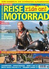 RM0806 + BMW F 800 GS + MOTO GUZZI Stelvio 4V + REISE MOTORRAD 6/2008