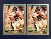 2001 Topps Collection GOLD # 104 MARK BRUNELL Lot 2 Jaguars Gold Stamped RARE !