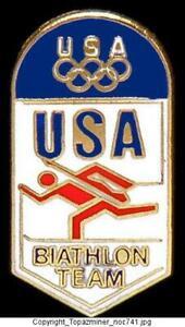 OLYMPIC PINS BADGE 2018 PYEONGCHANG SOUTH KOREA  TEAM USA USOC NOC BIATHLON ASSO