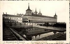 El Escorial ak ~ 1950/60 monasterio monasterio estanque de la huerta estanque en el jardín