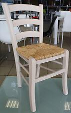 Sedia Legno seduta Paglia colore Anilina Bianco stile rustico cucina Paesana