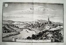 Penig Mulde Sachsen  Merian Kupferstich in der Erstausgabe 1650