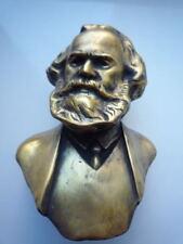 Lider Communist Germany KARL MARX metal bust Lenin statue H=11 cm.
