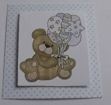 PK 3 BABY BEAR EMBELLISHMENTS TOPPERS FOR CARDS/CRAFTS