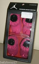 Nike Air Jordan Jumpman Baby Girl Hot Pink Raspberry 2pk Crib Booties Socks 0-6M