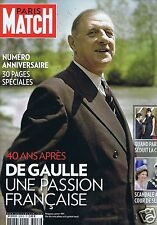 Couverture magazine,Coverage Paris Match 10/11/10 Charles de Gaulle