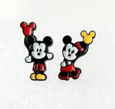 2pcs Disney minnie mickey hand up metal earring ear stud earrings studs unisex