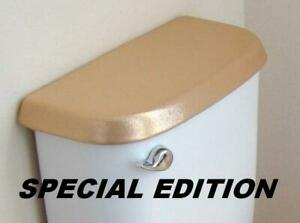 Shiny Fabric Cover for a lid TANK toilet - Yamanics Manuelens HandMade in USA