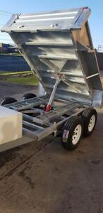10x6 hydraulic tipping trailer galvanised 3.5t