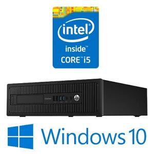 HP EliteDesk 800 G1 SFF Desktop Intel Core i5 4570 4G 500G Win 10 Pro