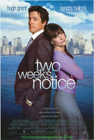 TWO WEEKS NOTICE MOVIE POSTER Original DS 27x40 International Ver SANDRA BULLOCK
