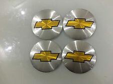 "4PCS 56MM 2.2"" Silver Chevrolet Auto Wheel Center Hub Cap Emblem Sticker"