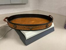 Leather Lined Western Decorative Coffee Table Tray, Dresser Tray, Very Nice!