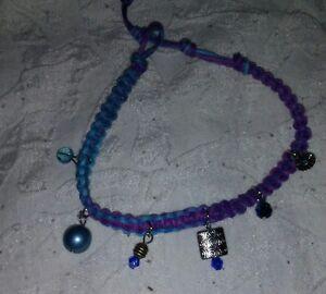NEW! Boho Style Bracelet Ankle Bracelet Macrame Hemp Crystal Beads Handmade