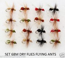Dry Trout Fly Fishing Flies FLYING ANTS Hook Size - 12 S68M X 16 Fishing Flies