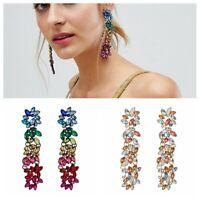 Fashion Women Bohemian Acrylic Flower Geometric Statement Drop Earrings Jewelry