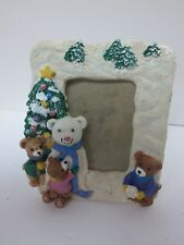 """Bear Resin Picture Frame 4.5"""" x 5"""" which holds 2' x 3"""" photo"""