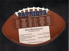 New England Patriots--2019 Magnet Schedule--Hannington Law