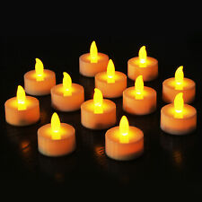Novelty Place Flameless LED Tea Light Candles Warm Yellow Flickering Tealights